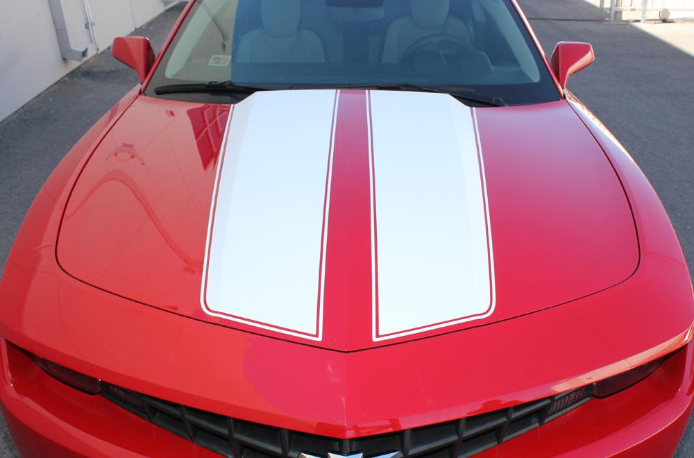 Chevrolet Camaro 10 14 White Vinyl Stripes Graphics For