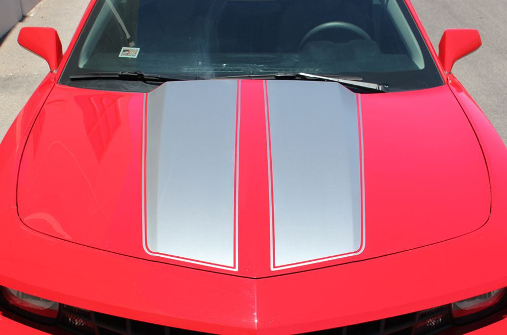 Chevrolet Camaro 10 14 Silver Vinyl Stripes Graphics For
