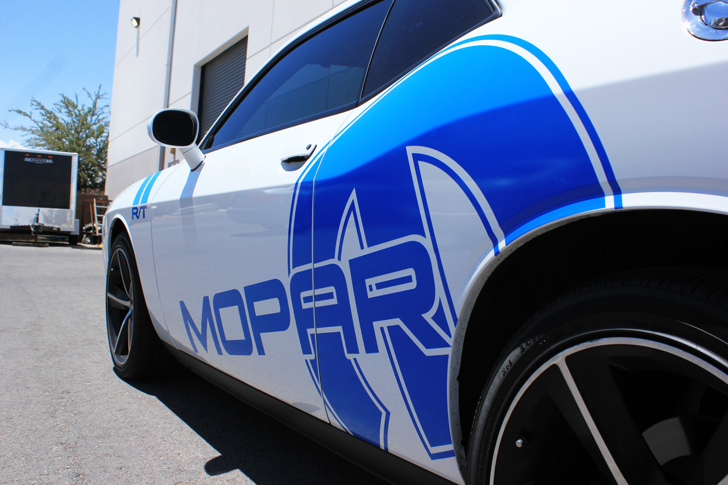 Dodge Challenger 08 14 Blue Vinyl Mopar Graphics For Both