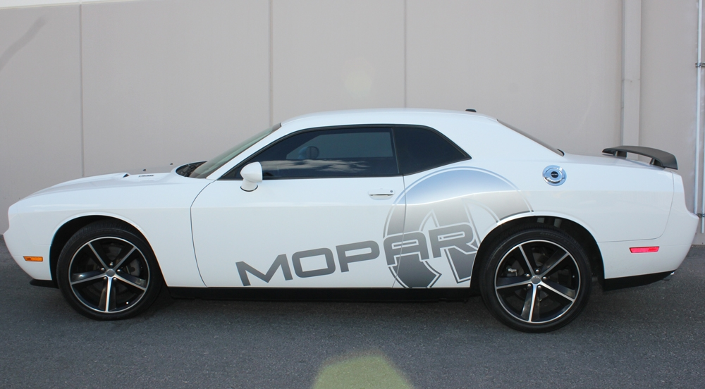 Dodge Challenger 08 14 Silver Vinyl Mopar Graphics For