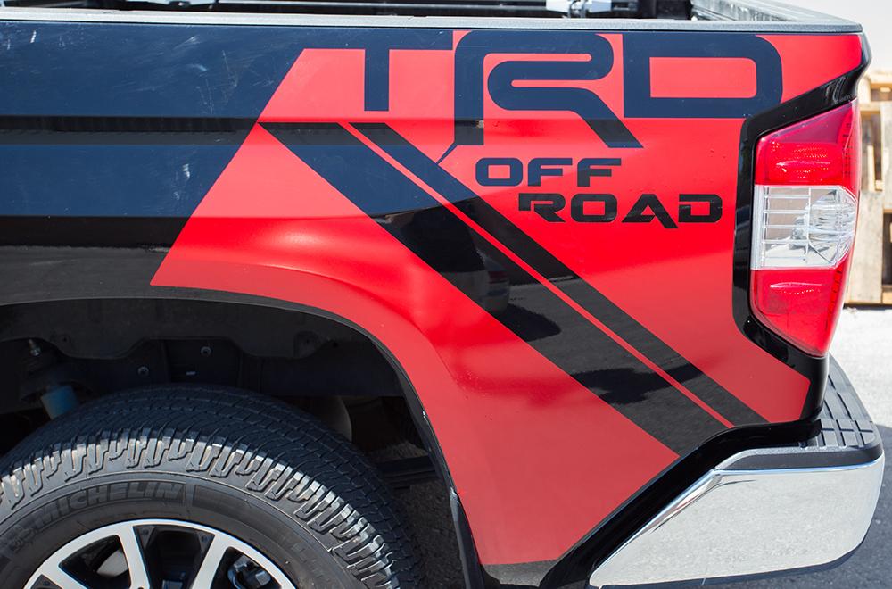 Toyota Tundra 2014 Vinyl Graphics For Bed Fender Quarter Panel