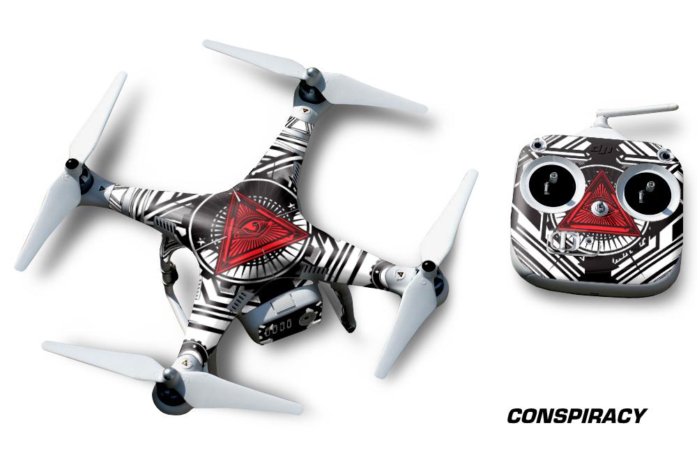 DJI Phantom 2 Wrap Vinyl Graphics for Drone