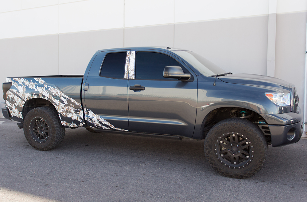Toyota Tundra Trd 4x4 Fender Graphic Vinyl Decals Full Bed