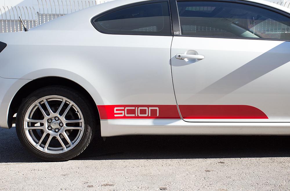 Scion Tc Matte Gloss Lower Side Stripe Vinyl Graphics