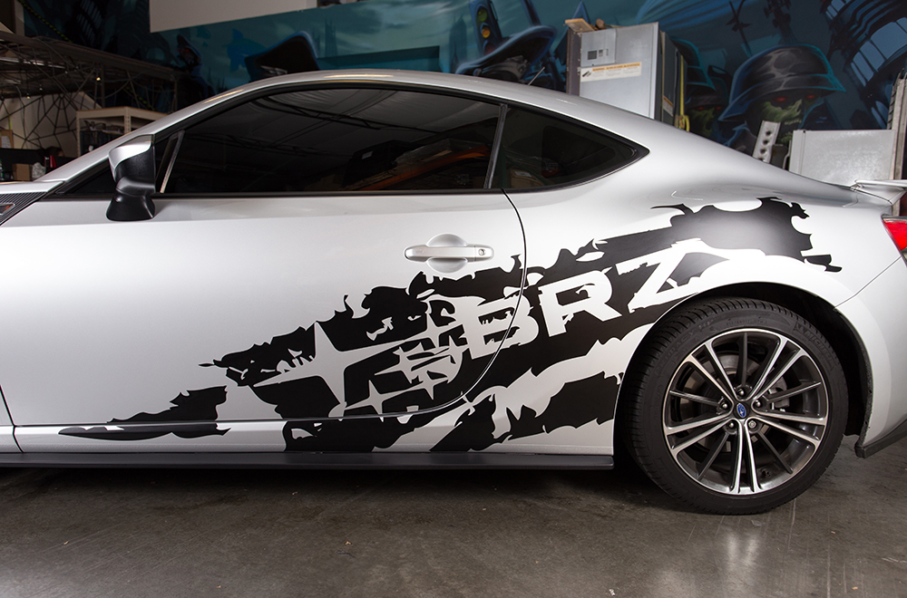 Subaru Brz 13 14 Black Vinyl Graphics For Sides Of Vehicle