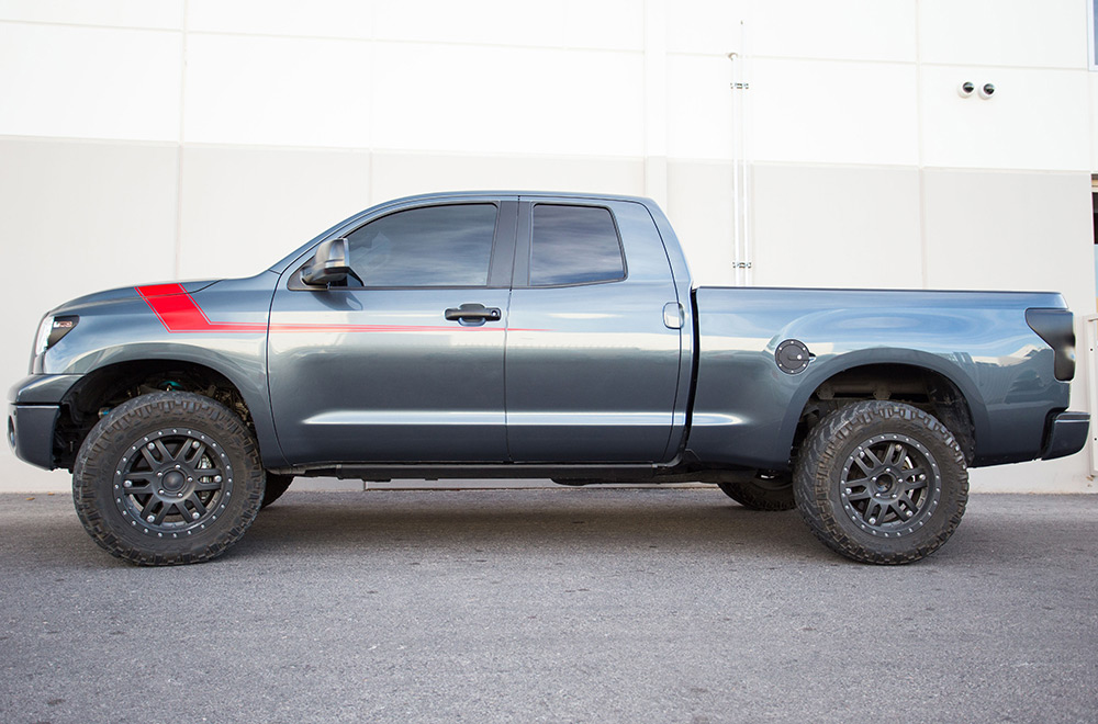 Toyota Tundra 07 13 Vinyl Graphics For Front Side Of Truck