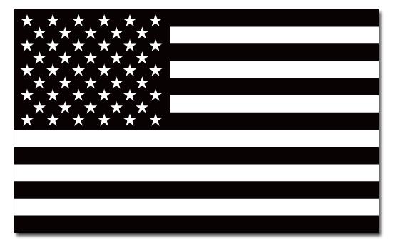 5x3 Black American Flag Decal Anti Flag