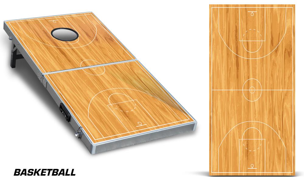 Bag Toss wrap BASKETBALL DECAL Cornhole Board CUSTOM COLLECTION SINGLE