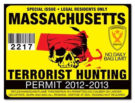 Terrorist hunting permit license choose from all u s for Fishing license ma