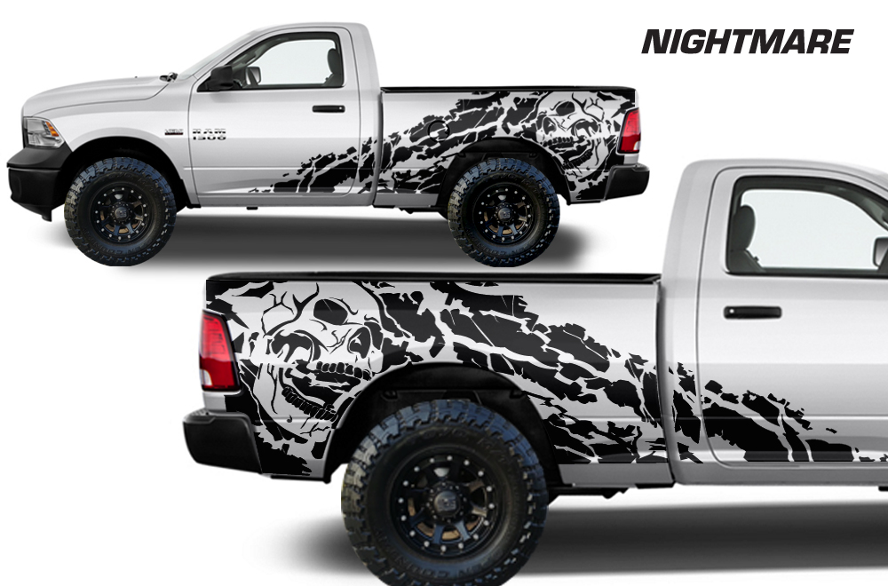 2016 Ram 1500 >> Dodge Ram 09-14 Vinyl Graphics for Bed Fender