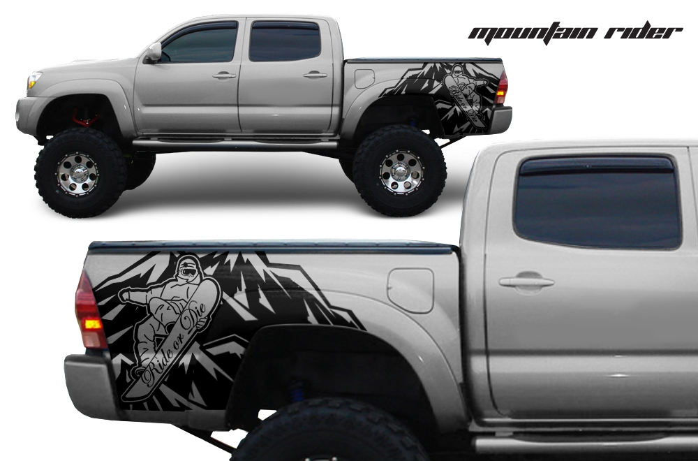 Toyota Tacoma Custom Quarter Side Decal Truck Wrap - Custom truck decals vinyls