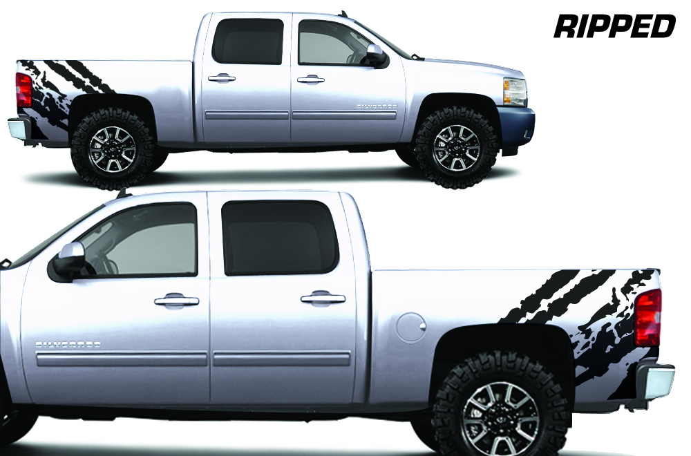 Chevy Silverado 08 13 Vinyl Graphics For Bed Fender