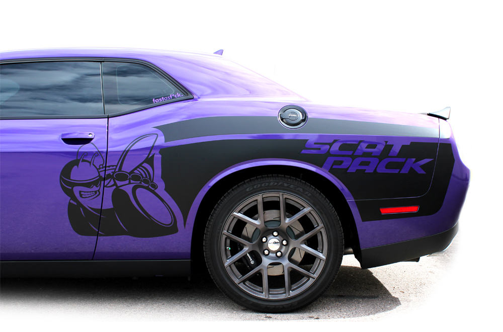 Dodge Challenger 15 16 Black Vinyl Mopar Graphics For Both