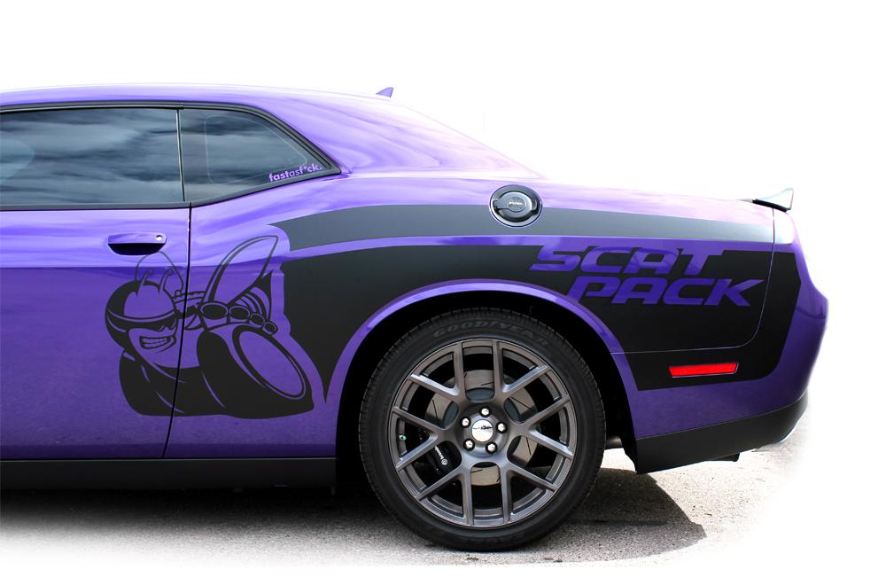 Dodge Challenger 15 16 Black Vinyl Mopar Graphics For Both