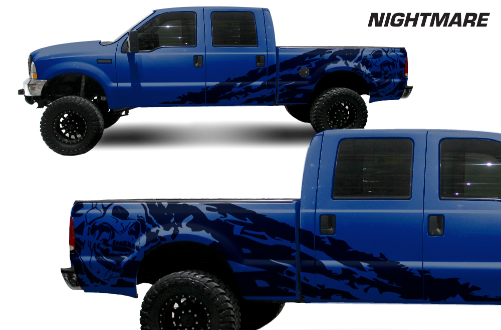 Ford F 250 99 06 Vinyl Graphics For Bed Fender