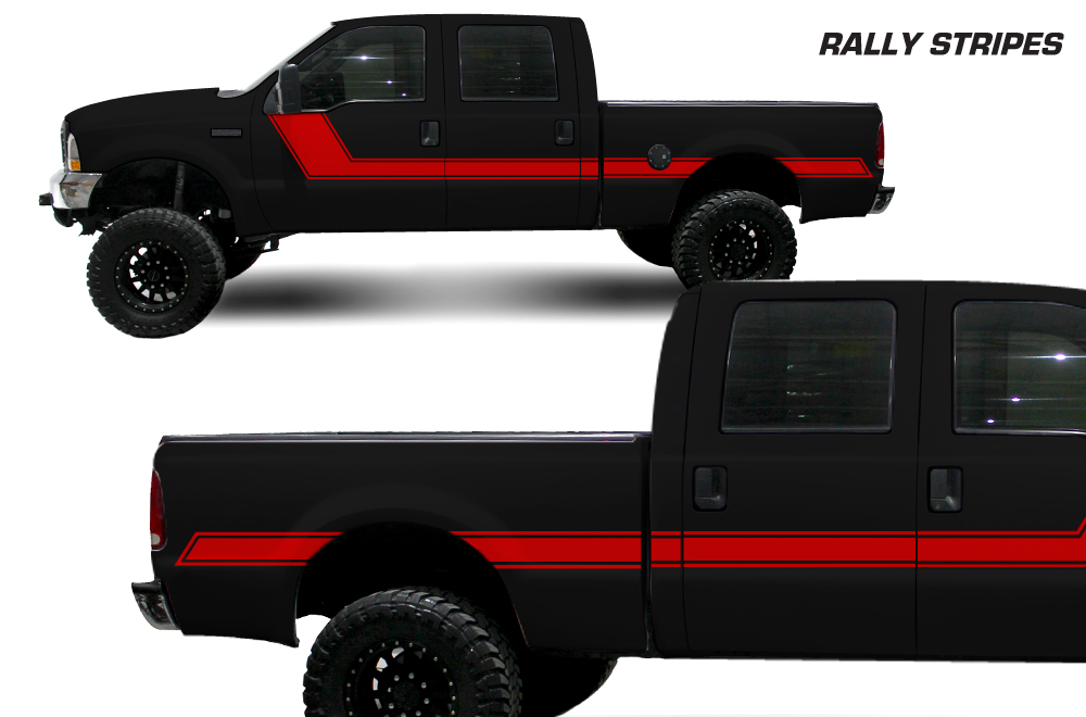 Ford Super Truck >> Ford F-250Truck 1999-2006 Rally Side Stripe Custom Vinyl Decal