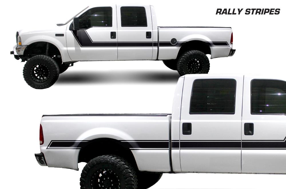Large Fordf Rallystripes Whitetruck Blackvinyl