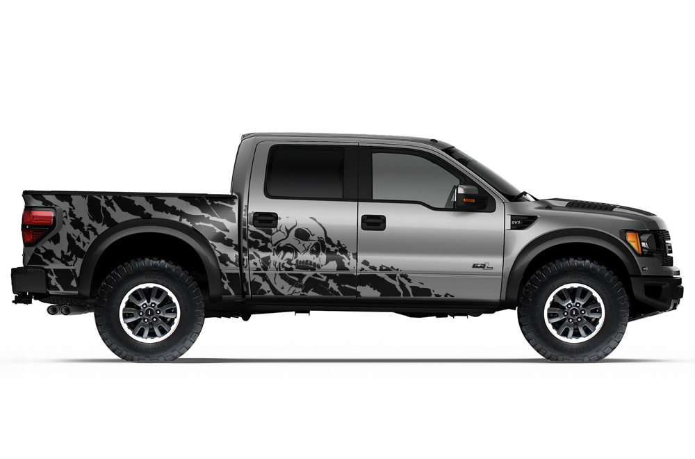Ford Raptor Matte Green >> Ford Raptor 2010-2014 Vinyl Graphics for Bed Fender