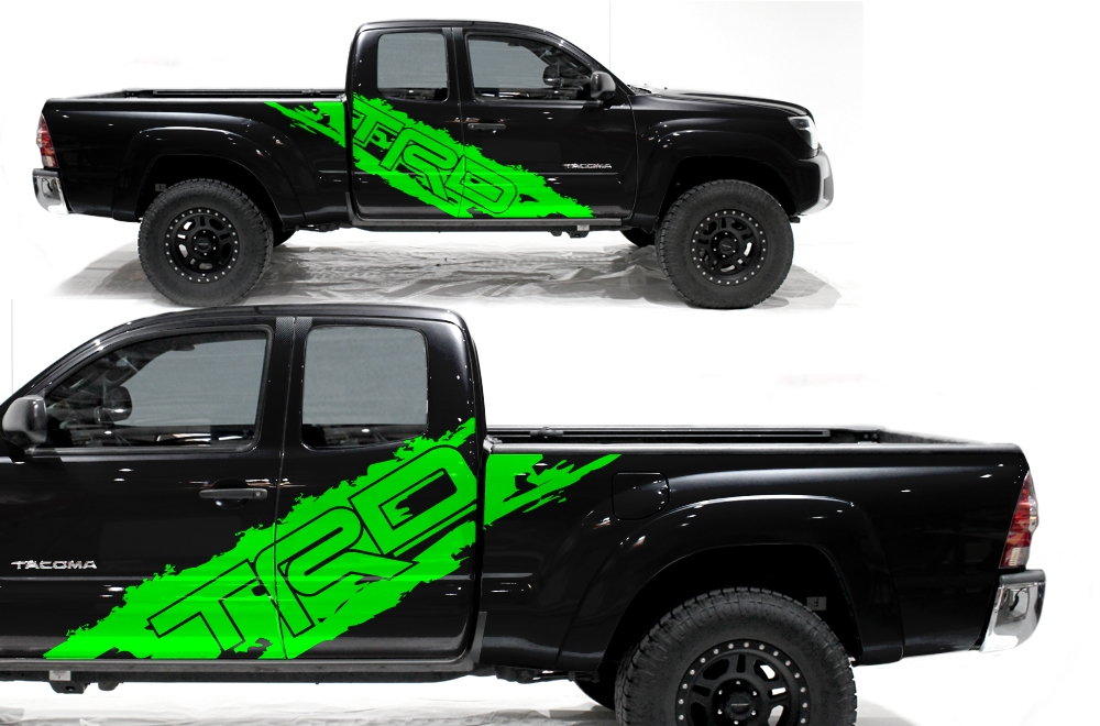 Matte Blue Jeep >> Toyota Tacoma 05-15 Vinyl Graphics for Bed Fender