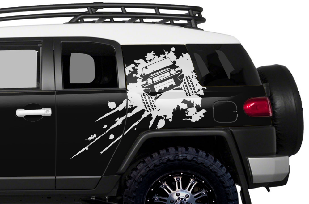 Toyota Fj Cruiser Custom >> Toyota FJ Cruiser 2007-2014 Custom Half Side Decal Truck Wrap - SPLASH