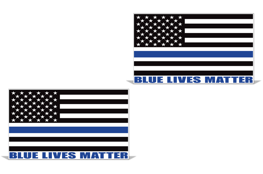 Blue Lives Matter American Flag Vinyl Police Cop Officer