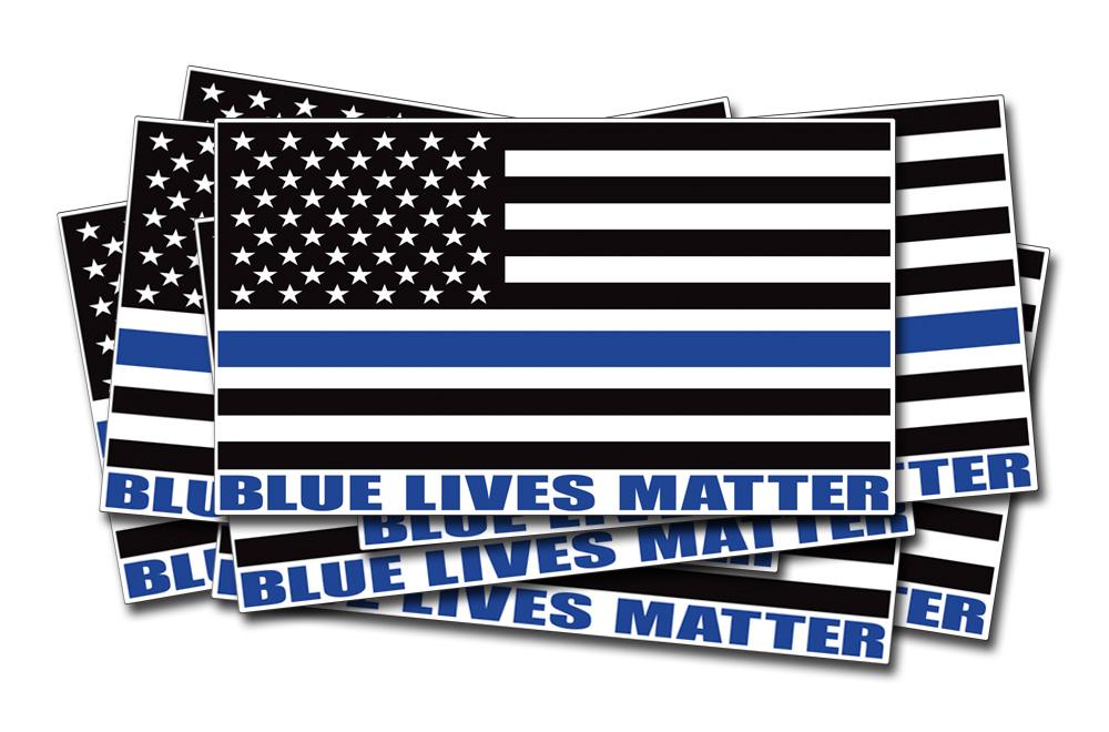 Blue Lives Matter American Flag Vinyl Police Cop Officer