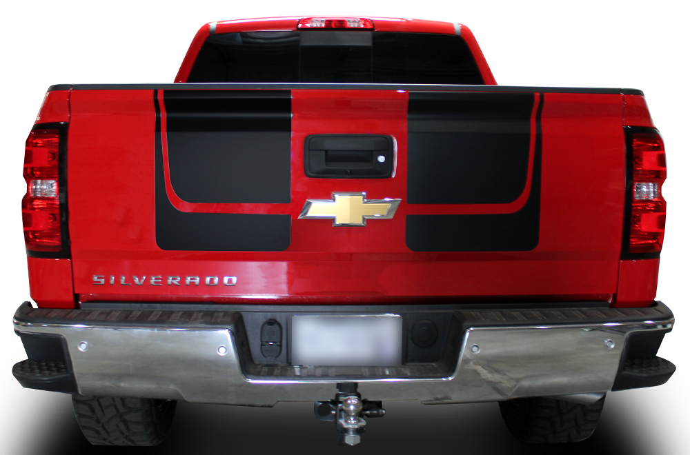 Chevy Silverado 14 16 Vinyl Graphics For Hood And Tailgate