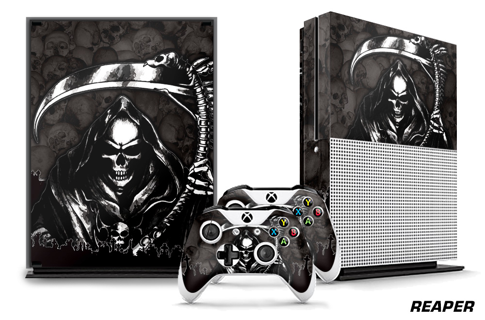 Large Xbox X Box One S Decal Skin Graphic Reaper
