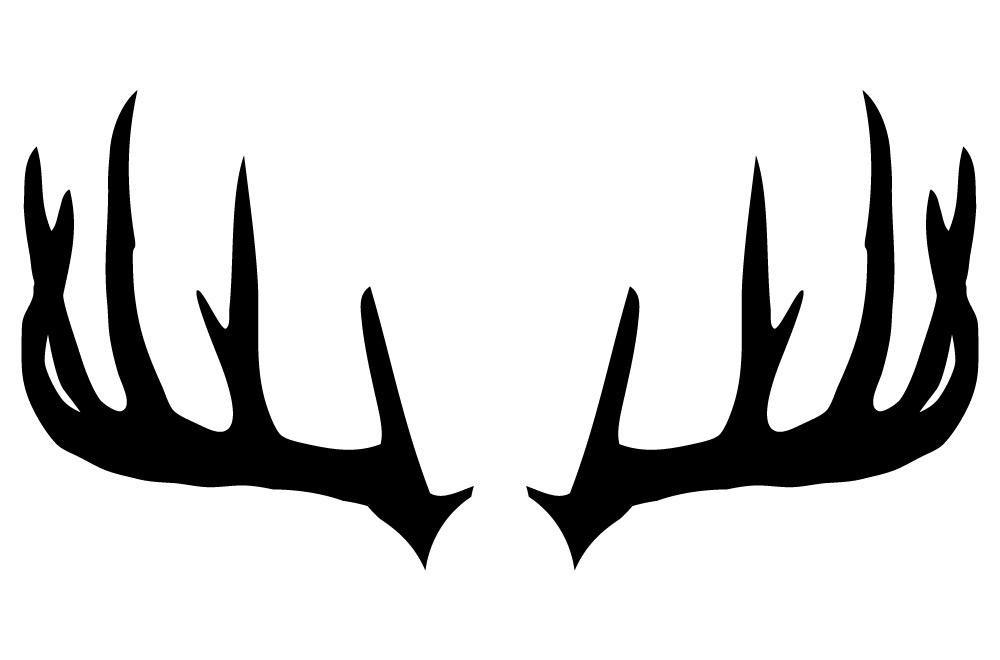 22 u0026quot  x 12 u0026quot  buck antlers vinyl bedroom wall art