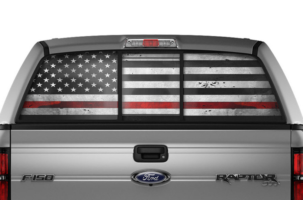 Ford F 150 Raptor 4x4 Window Vision Graphics Vinyl 2009 2014