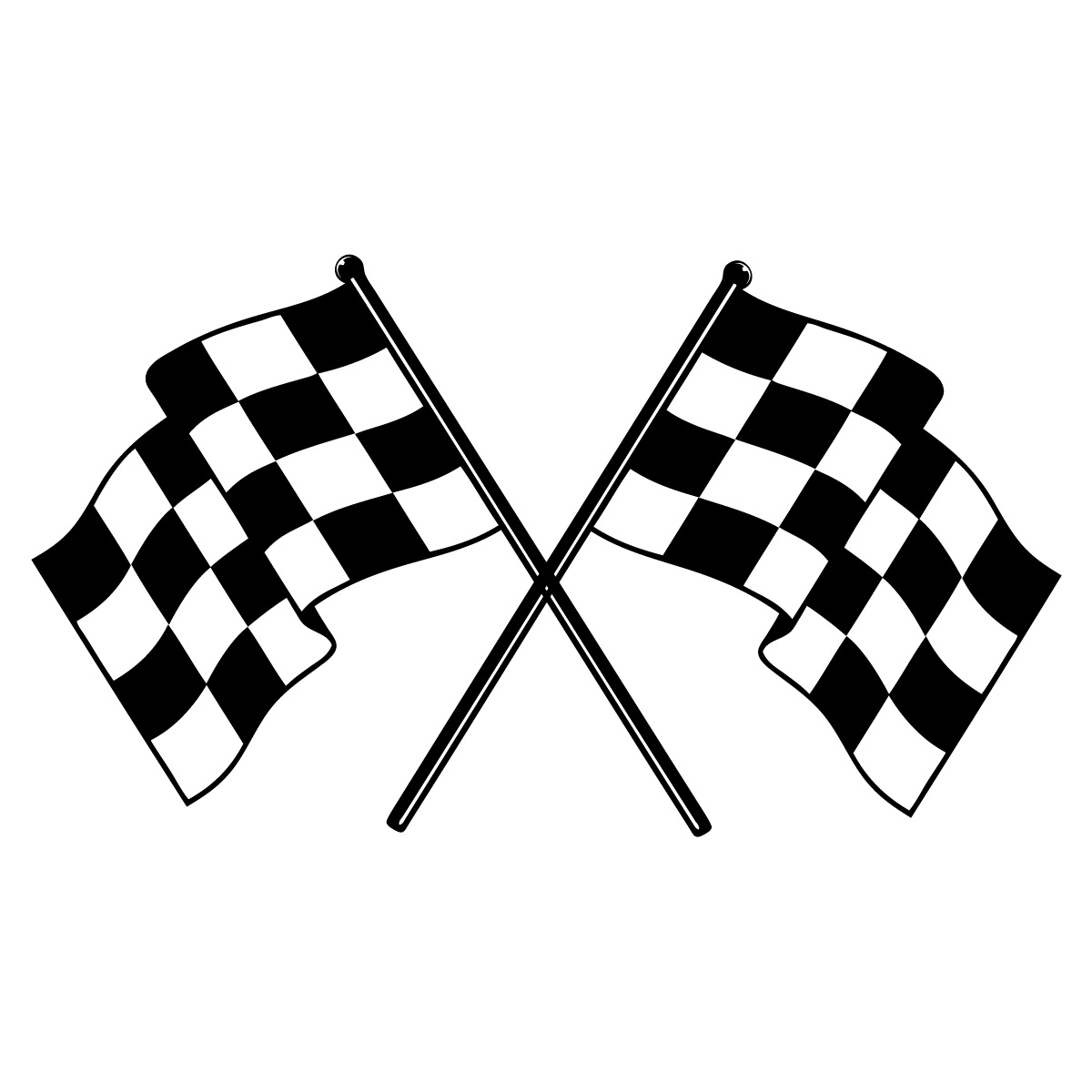 38 u0026quot  x 22 u0026quot  checkered race flags vinyl bedroom wall art