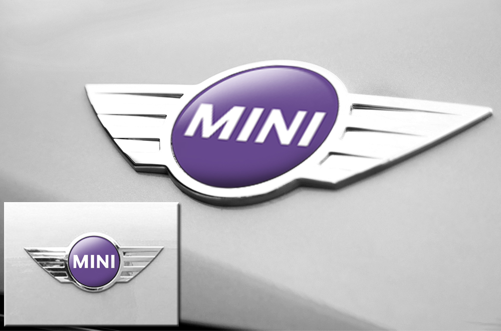 Mini Cooper Vinyl Emblem Graphics For Front And Back Of