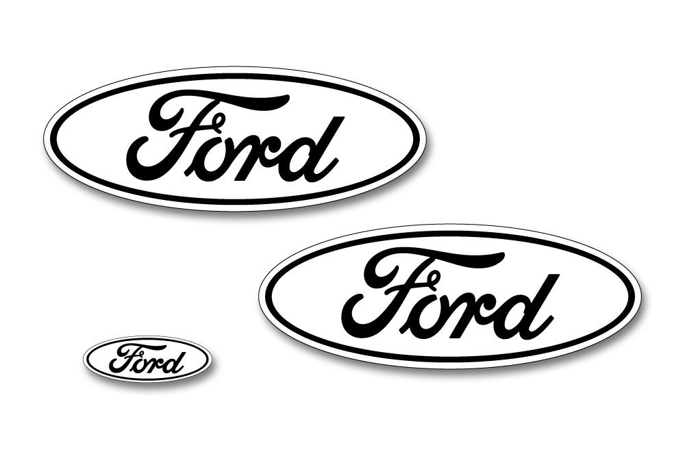 Ford F 150 Colored Oval Emblem Overlay Decals 2015 2018