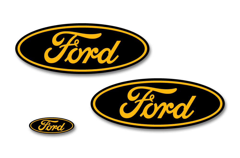 Ford F-150 Colored Oval Emblem Overlay Decals (2015-2018)