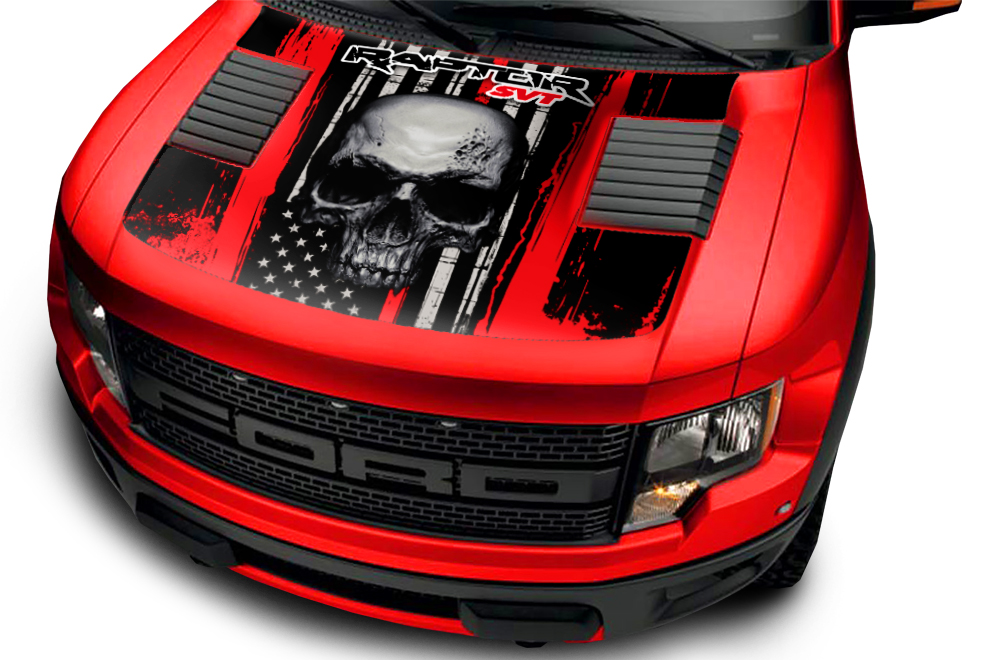 Ford Raptor F150 Svt Truck Full Hood Wrap Graphic Sticker