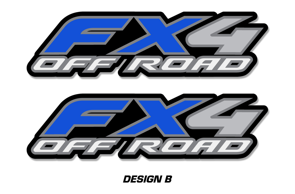 ford f150 fx4 decal graphics for front and back of vehicle