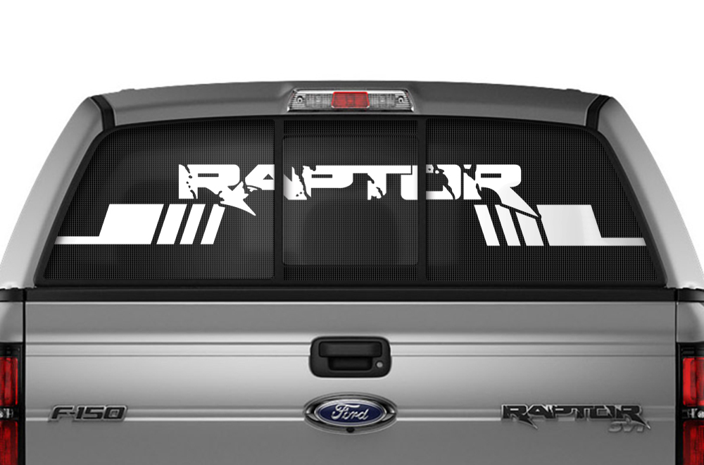 Ford F 150 Svt Raptor Window Vision Graphics Vinyl 2010 2014