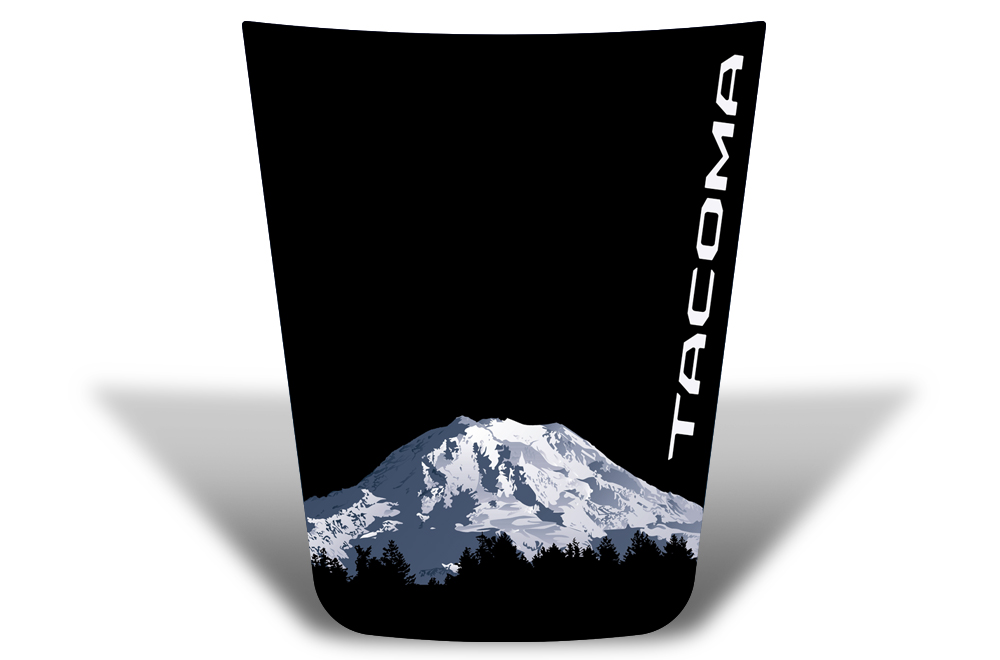 Toyota Tacoma 2016 Vinyl Hood Graphics Decal