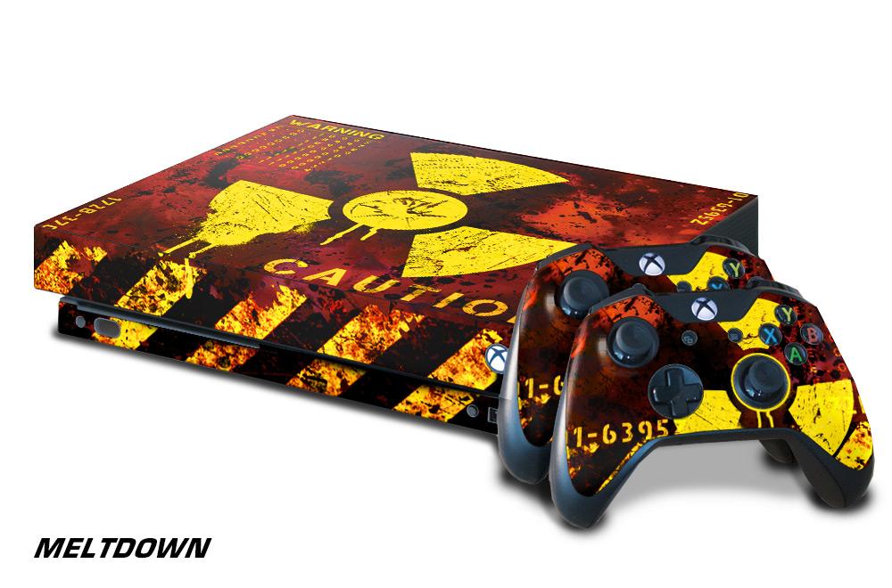 Microsoft Xbox One X Custom 1 Mod Skin Decal Cover Sticker Graphic Upgrade