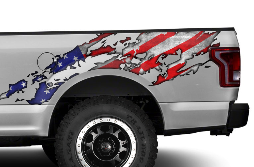 Ford F150 Truck Bed Wrap Graphic Sticker Decal 2015 2016