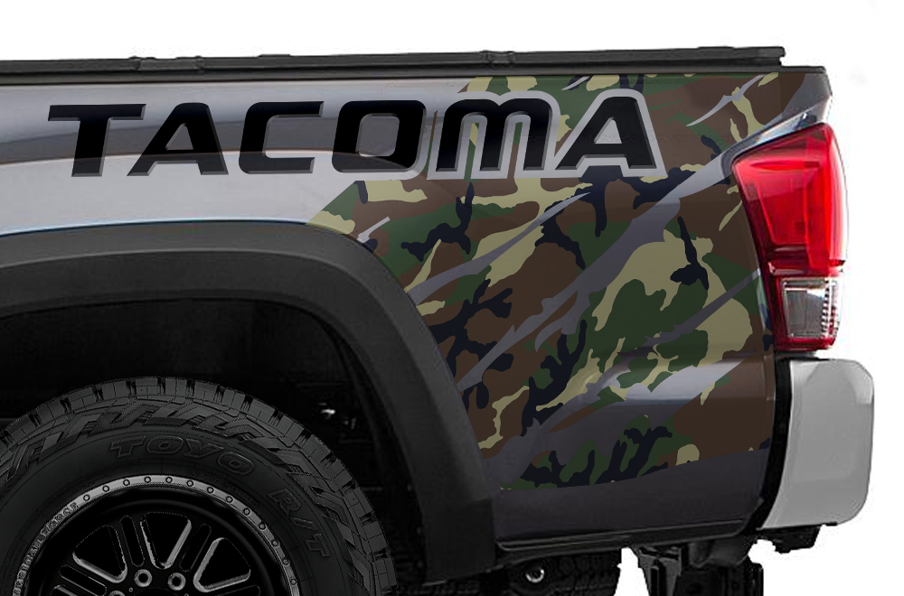 Toyota Tacoma 16 18 Vinyl Graphics For Bed Fender