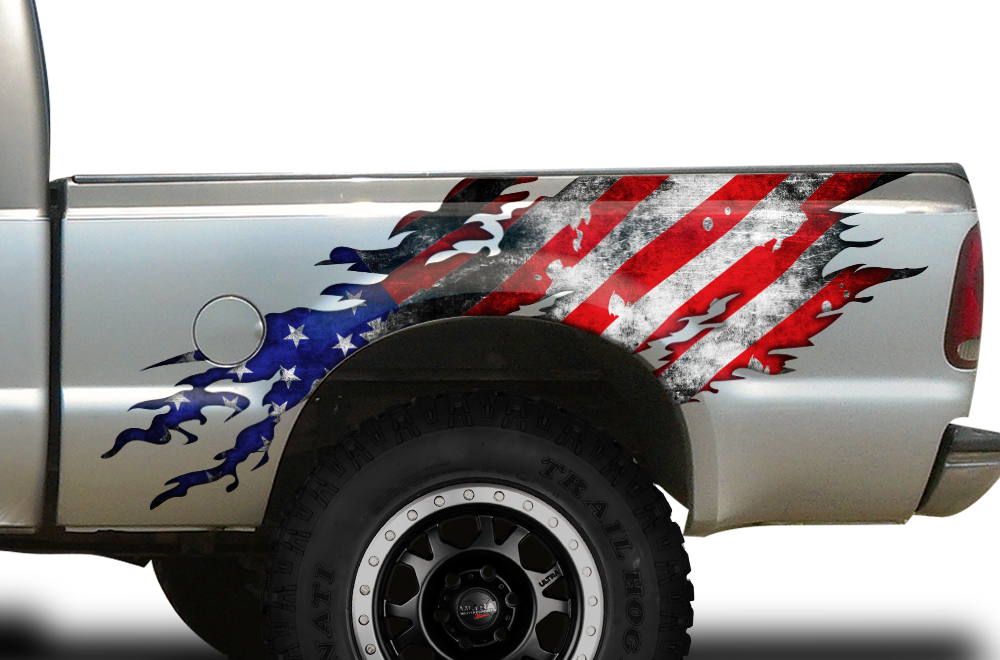 Ford F 250 F250truck Bed Wrap Graphic Sticker Decal 1999