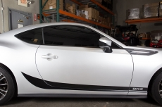 Subaru BRZ Matte/Gloss Lower Side Stripe BRZ Vinyl Graphics Decal 2013-2014