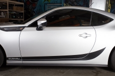 Subaru BRZ Matte/Gloss Lower Side Stripe SUBARU Vinyl Graphics Decal 2013-2014