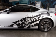 Subaru BRZ Matte/Gloss Subaru Torn Vinyl Graphics Decal 2013-2014