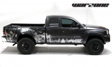 Toyota Tacoma 2005-2015 Custom Half Side Decal Truck Wrap 2 Door - WARZONE