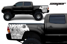 Toyota Tacoma 2005-2015 Custom Quarter Side Decal Truck Wrap - SNIPER