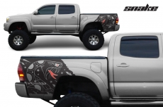 Toyota Tacoma 2005-2015 Custom Quarter Side Decal Truck Wrap - SNAKE