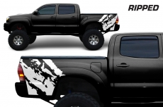 Toyota Tacoma 2005-2015 Custom Quarter Side Decal Truck Wrap - RIPPED