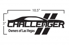 Dodge Challenger Owners of Las Vegas Club Window Decal Vinyl Graphic